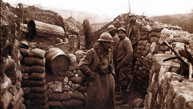Première guerre mondiale (1914-1918): le point le plus avancé du front dans les tranchées à Verdun.  [Costa/AFP - AFP]