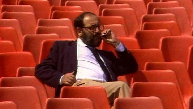 Umberto Eco à Locarno en 1985. [RTS]