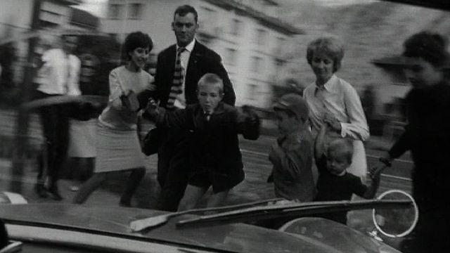 Démonstration de freinage lors du Rallye du vin, 1963. [RTS]