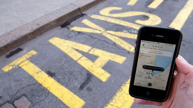 La guerre des taxis est déclarée à Genève contre la plateforme Uber. [Salvatore Di Nolfi - Keystone]