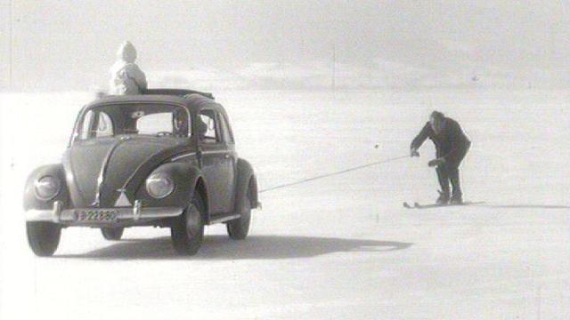 Sur le lac de Joux, 1963. [RTS]