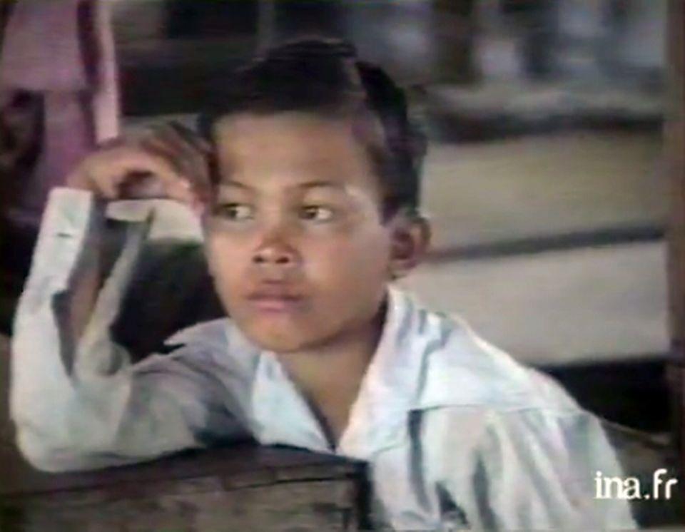 Orphelinat cambodgien. [INA]
