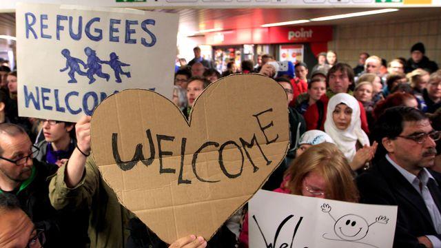 Arrivée de migrants à la gare centrale de Dortmund, en Allemagne, le 6 Septembre 2015. [Ina Fassbender - Reuters]
