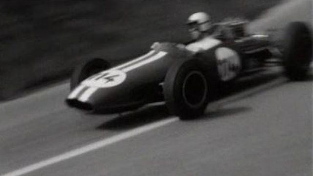 La course de côte de Verbois à Genève en 1966. [RTS]