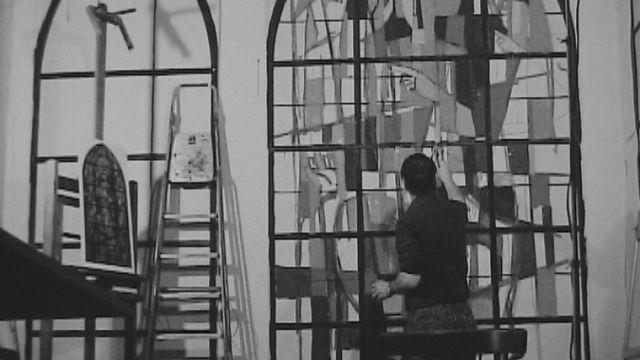 Le peintre Bodjol dans son atelier. [RTS]