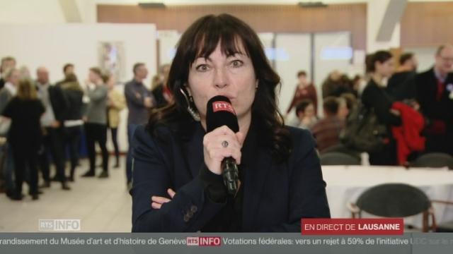 """Géraldine Savary: """"Le débat sur la sécurité a primé sur les investissements onéreux et inutiles."""" [RTS]"""