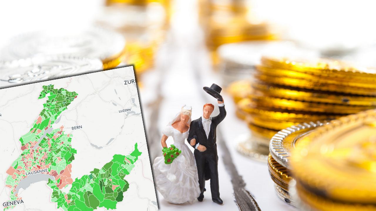 Les situations fiscales pour les couples mariés étaient au coeur de la votation de dimanche. [Fotolia]
