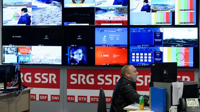 La SSR ne peut pas encore diffuser de la publicité ciblée (différenciée en fonction du public), contrairement aux télévisions privées. [Laurent Gillieron - Keystone]