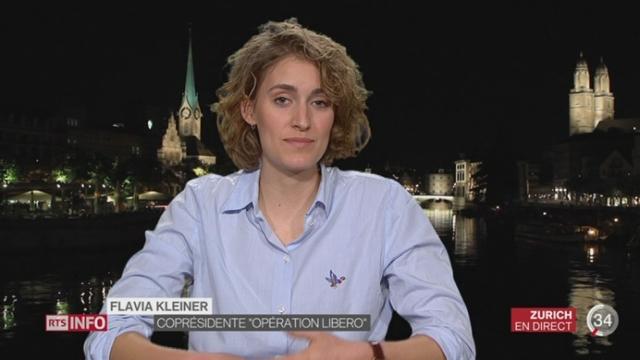 Votations - Mobilisation anti-UDC: entretien avec Flavia Kleiner à Zurich [RTS]
