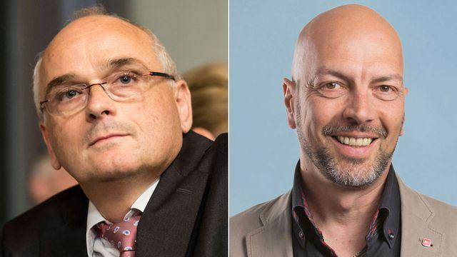 Pierre-Alain Schnegg (UDC) et Roberto Bernasconi (PS). [Keystone]