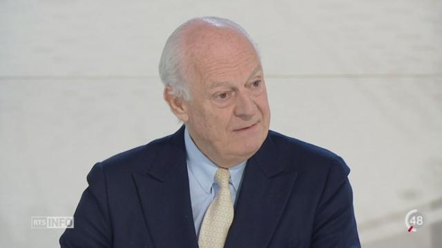 Les pourparlers sur la Syrie: Staffan de Mistura, émissaire de l'Onu sur la Syrie, dévoile son plan pour la reprise des négociations [RTS]