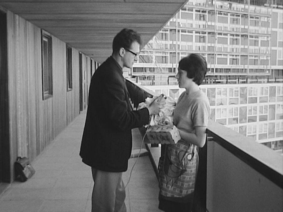 Une habitante du Lignon en 1967. [RTS]