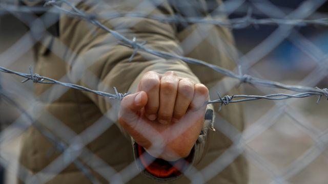 """""""La route (des Balkans) est désormais fermée"""", écrivent les dirigeants européens dans l'ébauche de communiqué. [Ognen Teofilovski - Reuters]"""