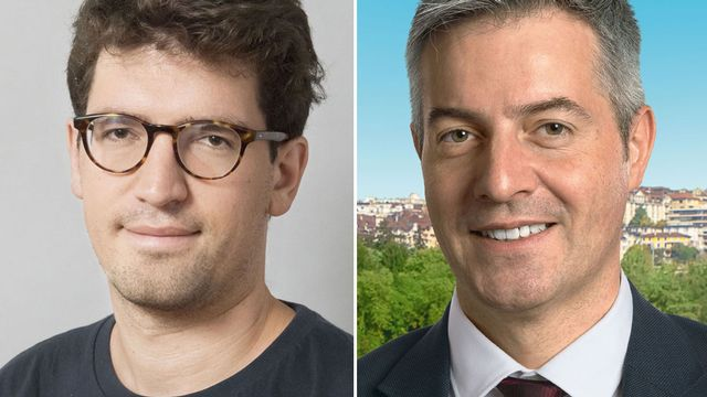 Adrien Buclin et Pierre-Antoine Hildbrand [Keystone/PLR]
