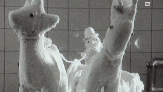 Sculpture en saindoux en 1968. [RTS]