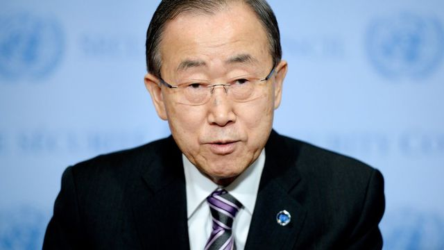 Le secrétaire général de l'ONU Ban Ki-moon a appelé à la plus grande sévérité. [Justin Lane - EPA/Keystone]