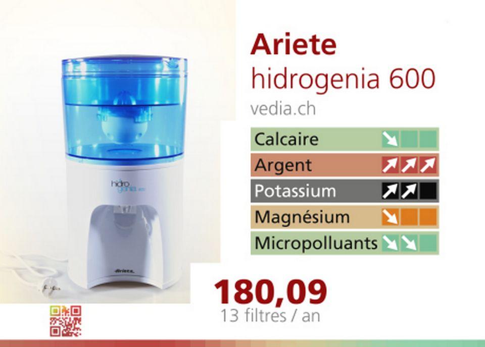 Le filtre Hidrogenia 600 d'Ariete. [RTS]