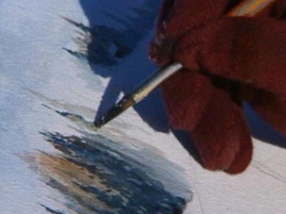 Peintre amateur à Noirmont en 2003. [RTS]