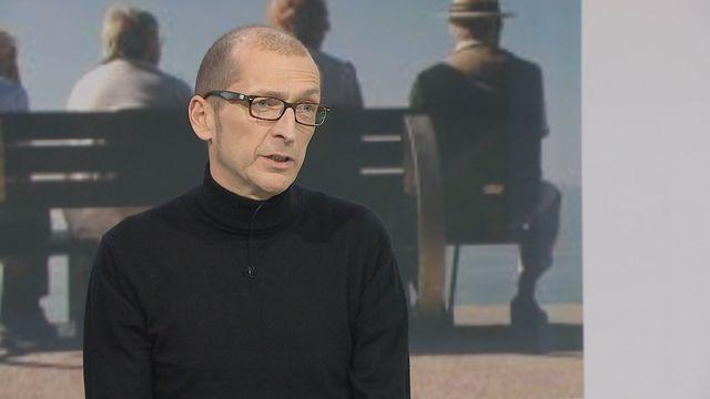 Aldo Ferrari, patron de la caisse de pension CIEPP, sur le plateau de TTC [RTS]