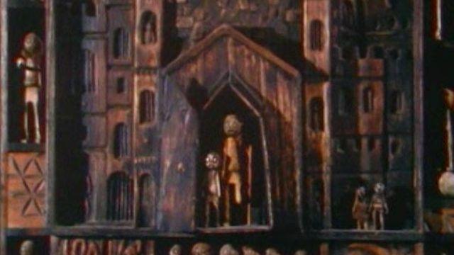 Sculpture en bois, 1979. [RTS]