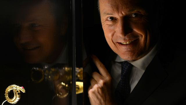 Le patron de la marque de luxe italienne Jean-Christophe Babin, à Rome, le 10 mars 2016. [GABRIEL BOUYS - Keystone]