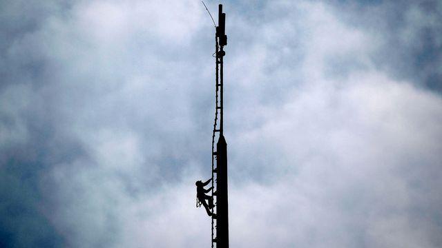 Une tour de télécommunications. [Frank Augstein - AP/Keystone]
