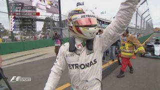 Q3 : à Melbourne, le nouveau système de qualifications permet à Lewis Hamilton (GBR) de signer une 50e pole position pour le premier Grand Prix de la saison [RTS]