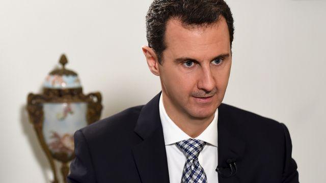 Le président syrien Bachar al-Assad, le 20 février à Damas. [Keystone]