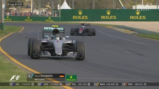 Course: l'Allemand devance son coéquipiers Lewis Hamilton (GBR) 2e et Sebastian Vettel (GER) 3e [RTS]