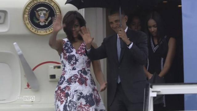 Barack Obama arrive à l'aéroport de La Havane [RTS]