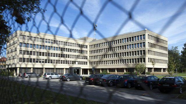 Le siège du Service de renseignement de la Confédération (SRC) à Berne. [Peter Schneider - Keystone]