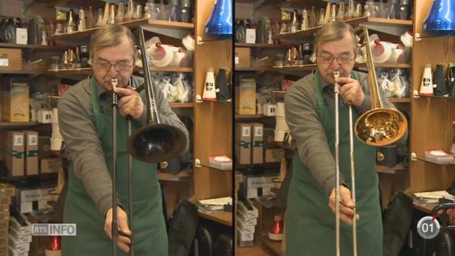 Minimag - GE: le pBone est un instrument venu d'Angleterre qui ressemble au trombone traditionnel [RTS]