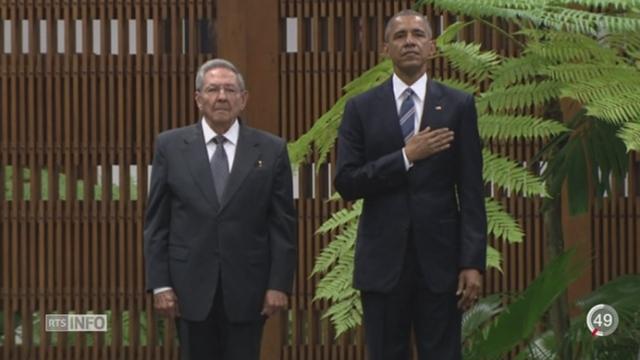 La poignée de main entre Barack Obama et Raul Castro scelle la normalisation entre La Havane et Washington [RTS]