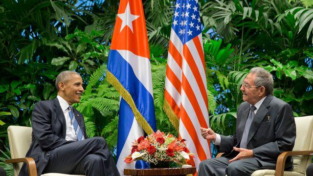La question des droits de l'homme a été abordée entre Barack Obama et Raul Castro. [Pablo Martinez Monsivais - AP/Keystone]