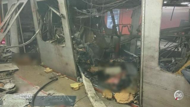 Bruxelles: une attaque terroriste a eu lieu dans le métro [RTS]