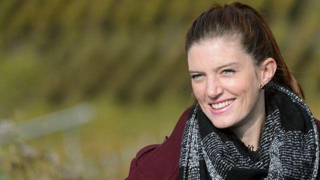 Lea Sprunger aime se retrouver en pleine nature comme en octobre dernier sur la vigne à Farinet. [Keystone]