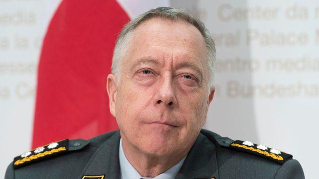 Le chef de l'armée André Blattmann. [Lukas Lehmann - Keystone]