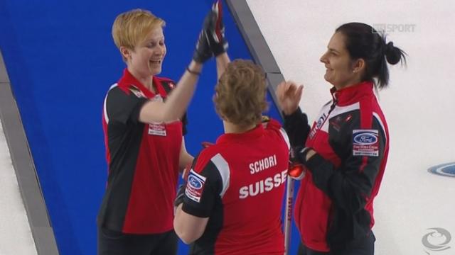 finale dames, Suisse - Japon (5-3): les Suissesses reprennent l'avantage grâce à ces trois pierres [RTS]