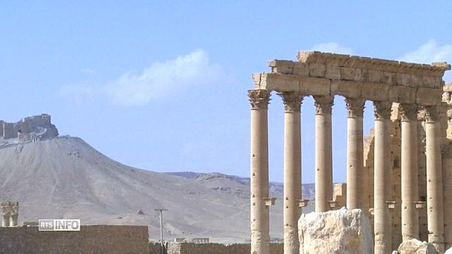 Les premières images de la cité de Palmyre libérée [RTS]