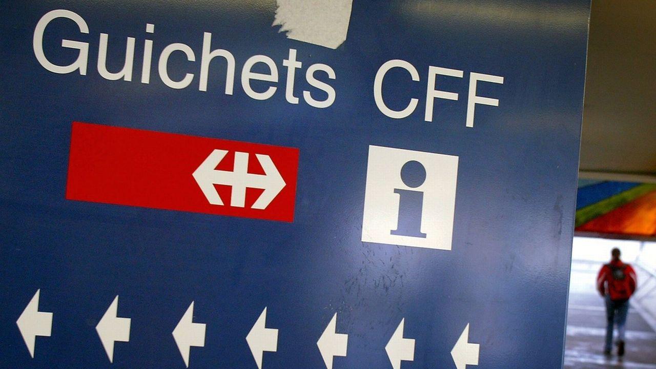 Les tarifs des billets internationaux délivrés aux guichets des CFF ne sont pas indexés au cours de l'euro. [Fabrice Coffini - Keystone]