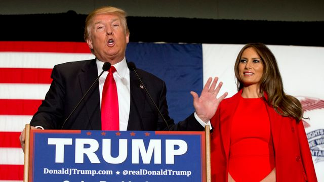 Donald Trump et sa femme Melania. [Mary Altaffer - AP/Keystone]