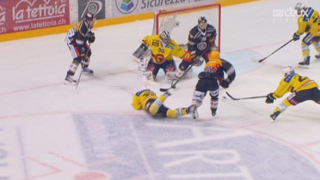 Finale, HC Lugano – CP Berne (2-0): doublé pour Klasen qui inscrit le 2-0 pour Lugano [RTS]