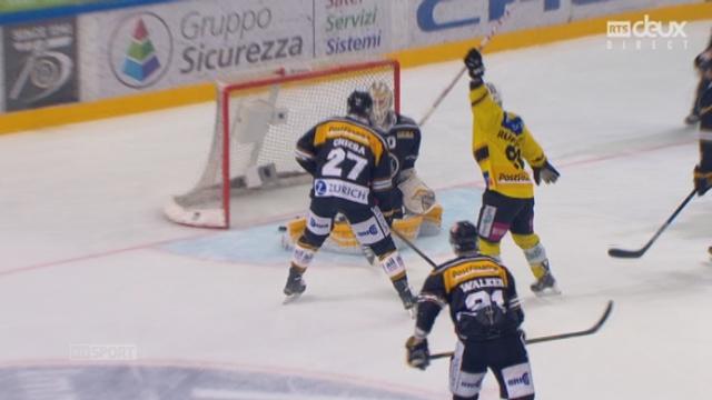 Finale, acte I : HC Lugano – CP Berne (2-3): Untersander y va aussi de son doublé et inscrit le 3e but bernois [RTS]