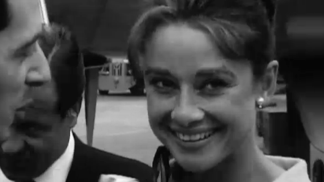 Audrey Hepburn à Cointrin.