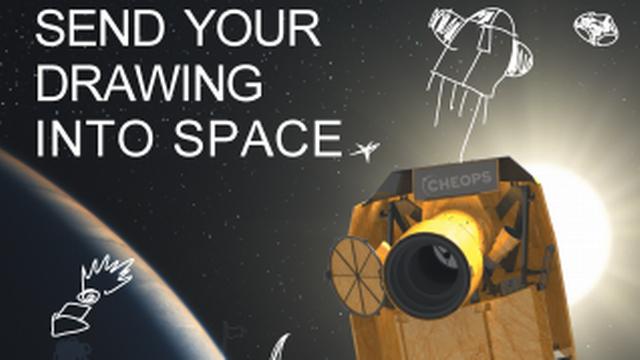 Plus de 800 enfants suisses verront leur dessin s'envoler vers l'espace grâce à CHEOPS. [esa]