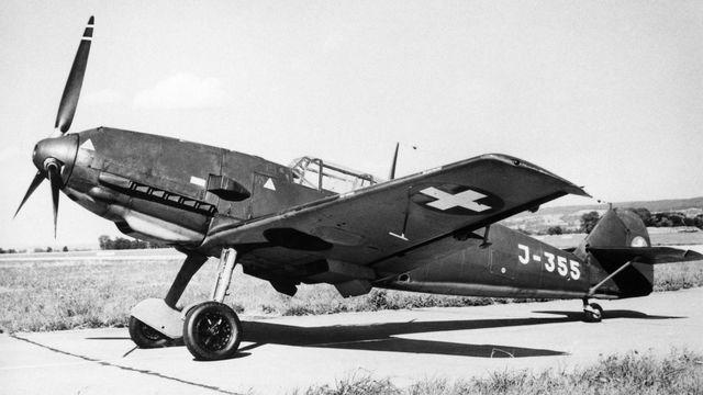 Un Messerschmitt Bf 109 - E de la Swiss Air Force au cours de la Seconde Guerre mondiale. Str Keystone [Str - Keystone]