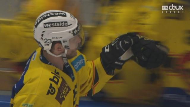 Finale, acte III, HC Lugano – CP Bern (0-1): ouverture du score pour Bern en tout début de 2e tiers [RTS]