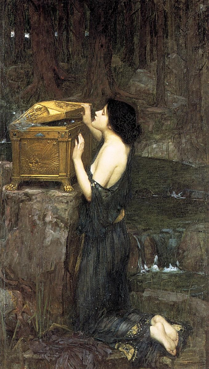 Pandore, par John William Waterhouse (1896).