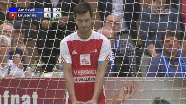 Finale, match 1, Volley Amriswill – Lausanne UC (25-20) : Amriswill n'est plus qu'à un set de remporter ce premier match! [RTS]