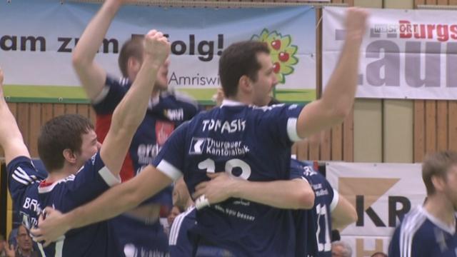 Finale, match 1, Volley Amriswil – Lausanne UC (28-26) : Amriswil remporte le 1er acte de la finale en 3 sets face aux Lausannois ! [RTS]